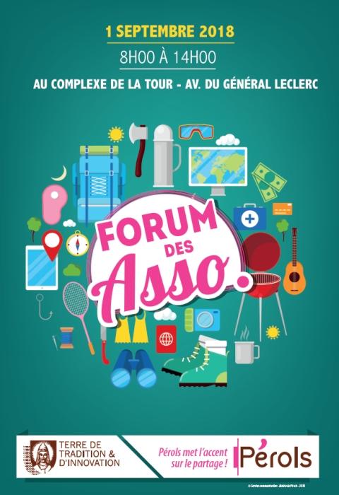affiche foire aux associations de pérols edition 2018